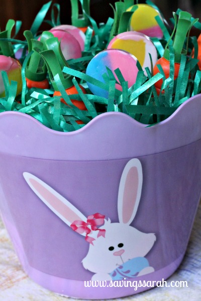 Easter Basket Closeup with Lolly Pops