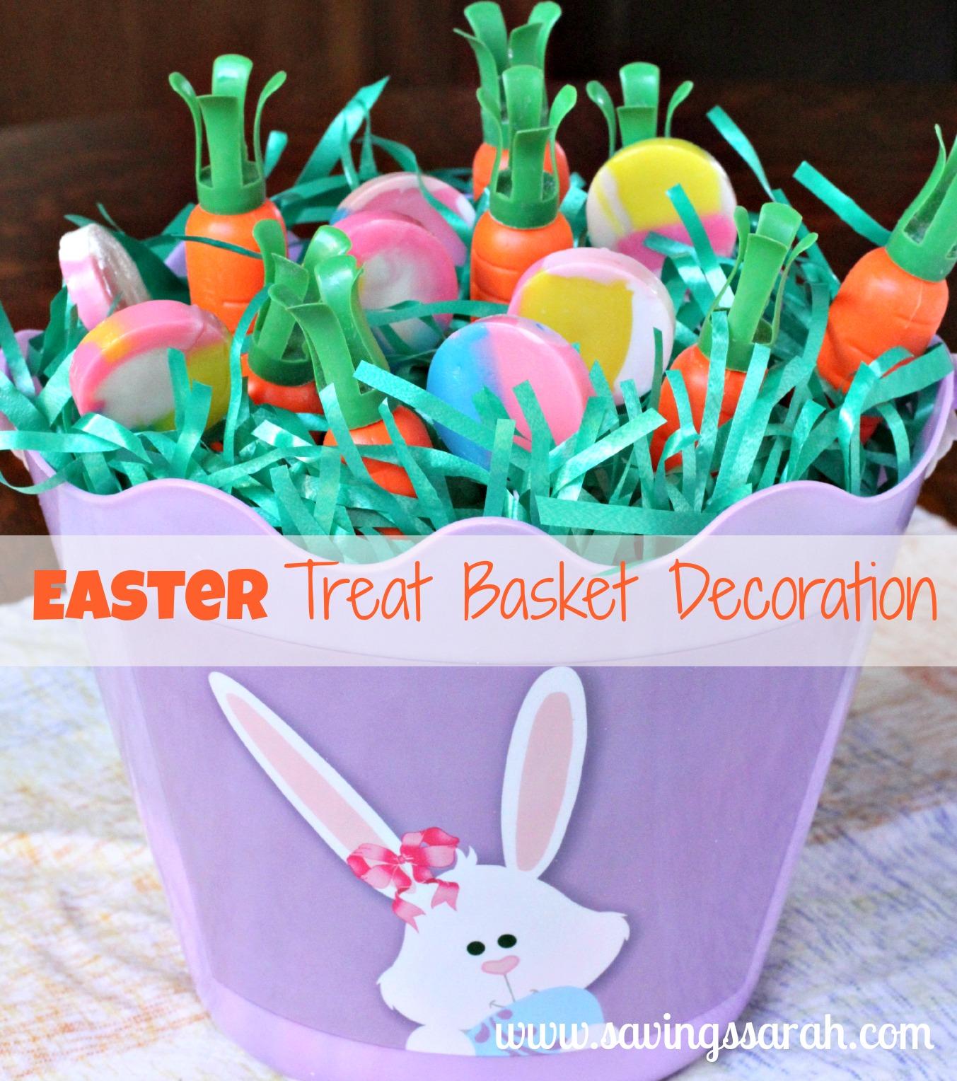 Easter Bunny Treat Basket Decoration
