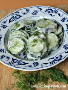 Cucumber Dill Salad Side