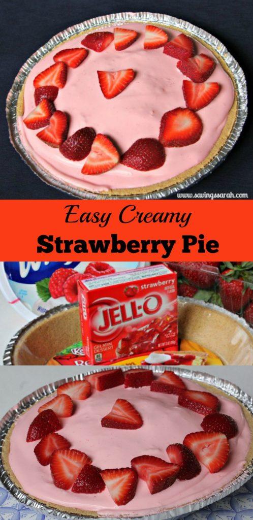 Easy Creamy Strawberry Pie