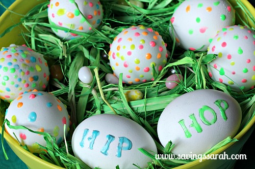 Glow in the Dark Easter Egg Basket Close Up