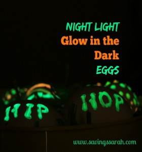 Night Light Glow in the Dark Eggs Project