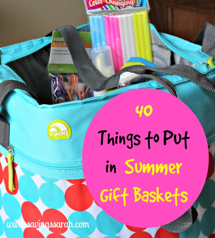 40 things to put in summer gift baskets earning and saving with 40 things to put in summer gift baskets negle Choice Image