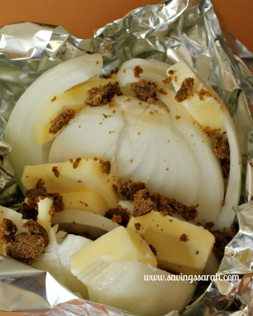 Simple Grilled Onion Prep Steps