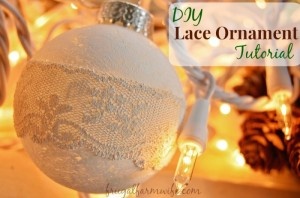 DIY Rustic Lace Ornament