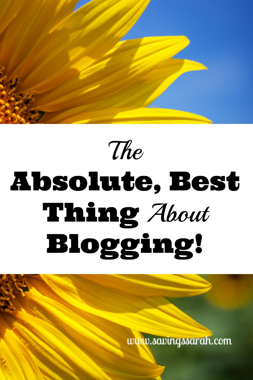 The Absolute, Best Thing About Blogging