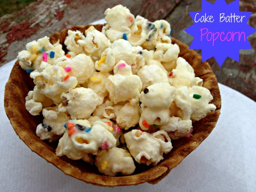 Sweet and Yummy Cake Batter Popcorn