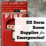 22 Dorm Room Supplies for Emergencies