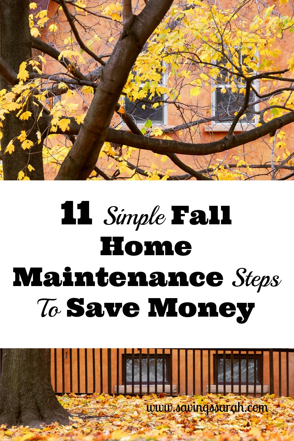 Simple Fall Wreath: 11 Simple Fall Home Maintenance Steps To Save Money