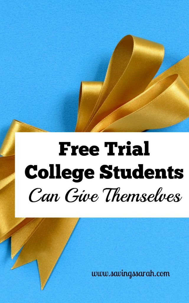 Free Trail College Students Can Give Themselves