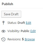 Revisions WordPress