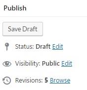 Revisions WordPress