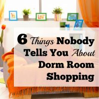 6 Things Nobody Tells You About Dorm Room Shopping