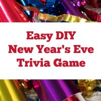 DIY New Year's Eve Party Trivia Game