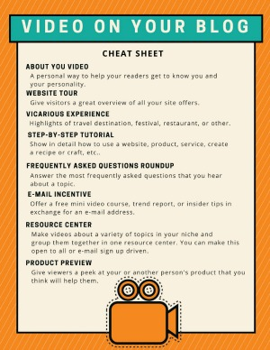 Video On Your Blog Cheat Sheet