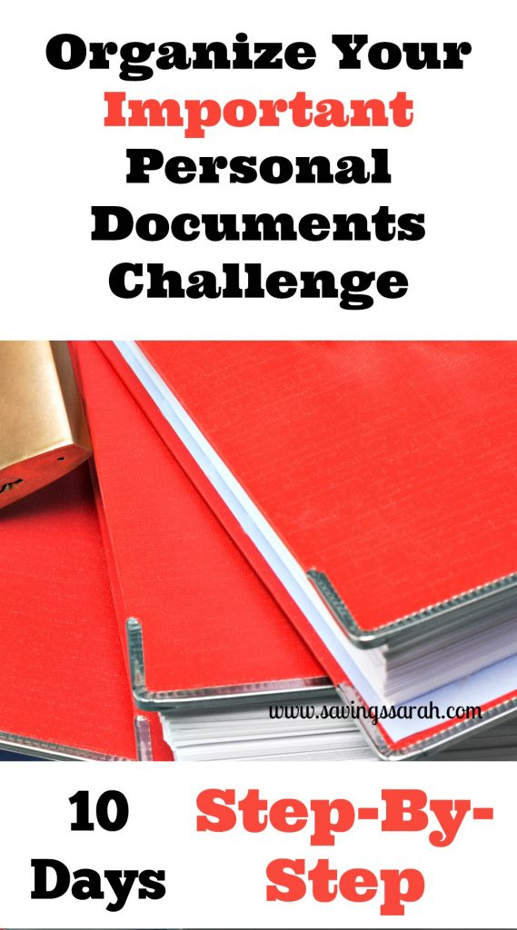 10 Day Organize Your Important Documents Challenge