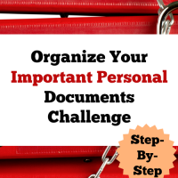 Organize Your Important Personal Documents Challenge