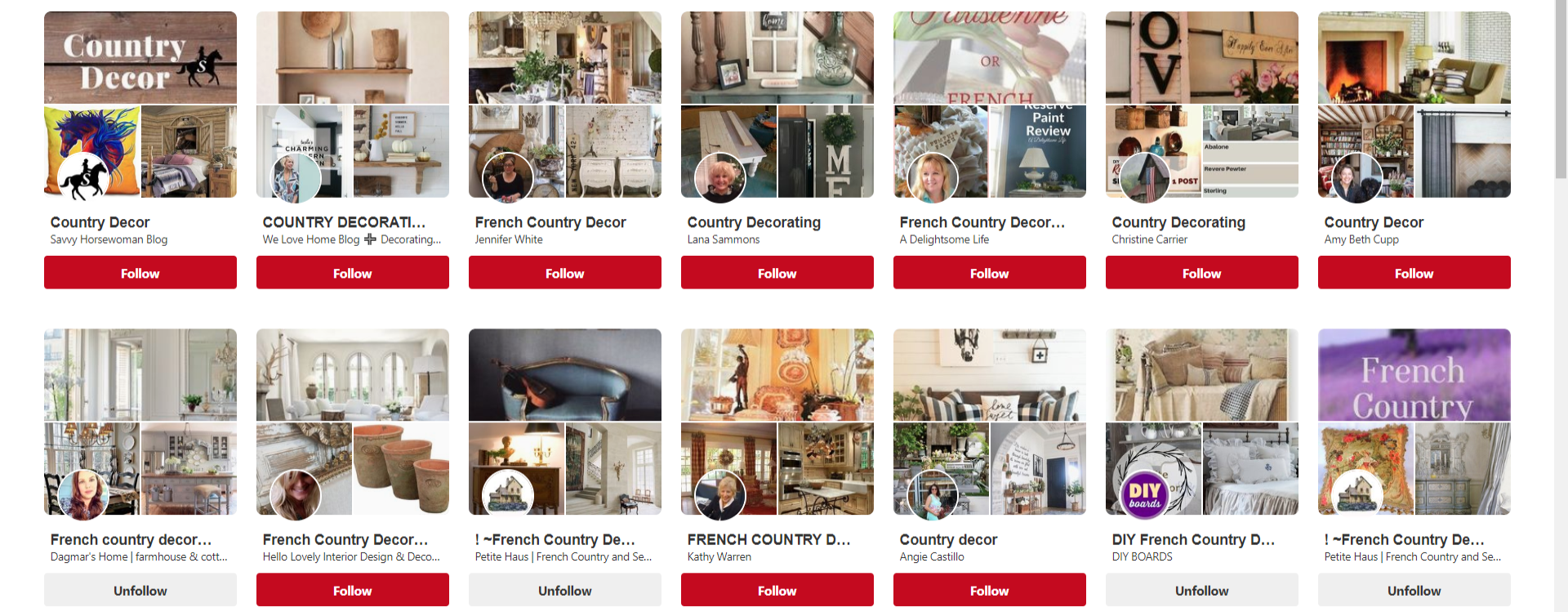 Pinterest Board Names Example - Earning and Saving with Sarah